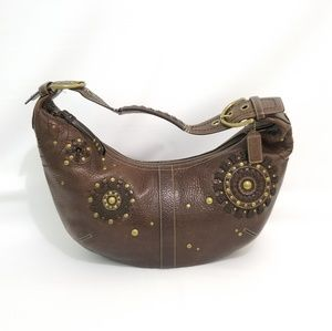 Coach 10063 Soho Chocolate Leather Zipper Bag